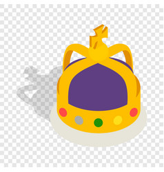 Crown english monarchs isometric icon vector