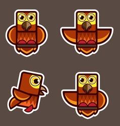 cute little owl abstract cartoon vector image