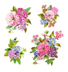 Decorative floral bouquets vector