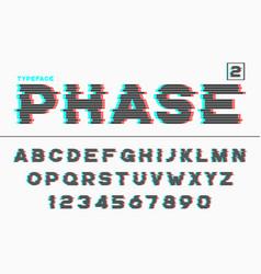 Decorative futuristic font design alphabet vector