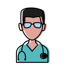 doctor avatar profile vector image