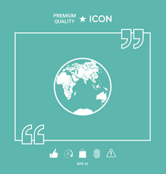 earth logo icon vector image