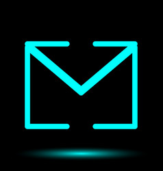 Envelope neon icon vector