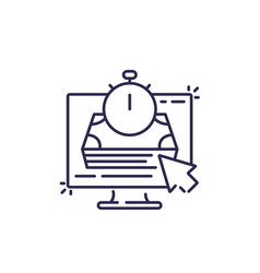 fast loan online line icon vector image