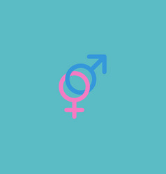 flat icon gender signs element vector image