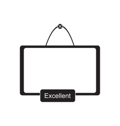 Flat icon in black and white interactive board vector