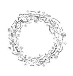 flowers wreath vector image