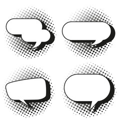Four design of speech bubbles vector