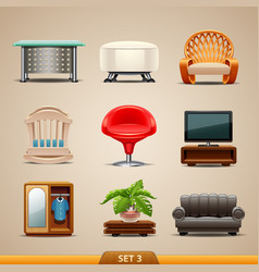 Furniture icons-set 3 vector
