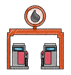Gasoline dispenser station vector