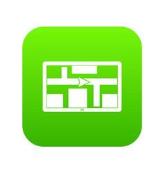 gps navigation icon digital green vector image