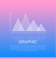 graphic diagram with triangular marks report vector image