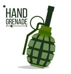 grenade big bang green classic hand vector image