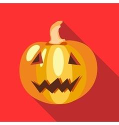 Halloween pumpkin icon in flat style vector