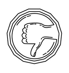 haram icon doodle hand drawn or outline icon vector image