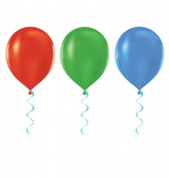 Helium balloons vector