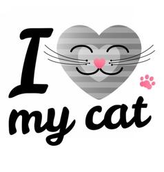 I love may cat vector