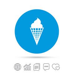 Ice cream sign icon sweet symbol vector