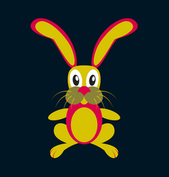 Icon in flat design toy hare vector