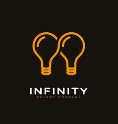 infinite energy logo vector image