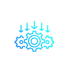 Integration process technology line icon vector