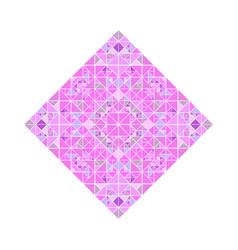 Isolated abstract polygonal triangular mosaic vector