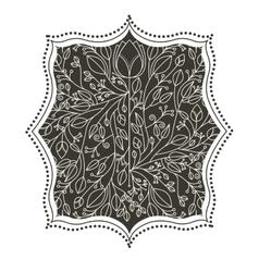 Isolated leaves ornament inside frame design vector