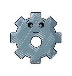 Kawaii gear vector