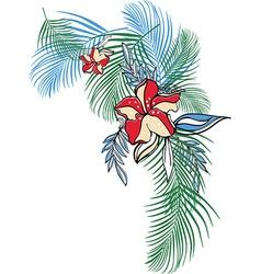 Leaf design nature flower vector image