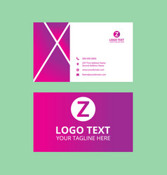 Light red nice business card vector