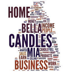 Mia bella candles work from home with your own vector