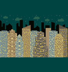 night urban landscape vector image