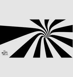 pattern with optical black and white design vector image
