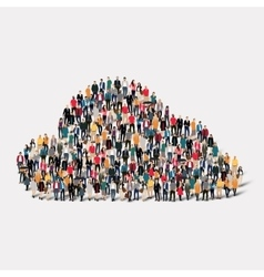 People clouds weather crowd vector