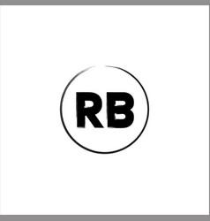 R b letter logo monogram design vector