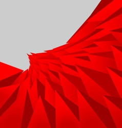 Red triangle vector