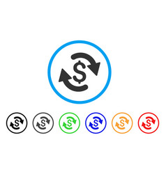 Refresh money balance rounded icon vector