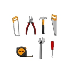 Repair and construction work tools isolated icons vector image vector image