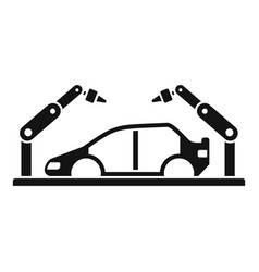 Robot car assembly icon simple style vector