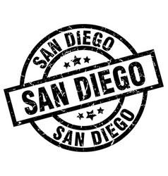 San diego black round grunge stamp vector