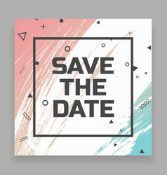 Save date card vector