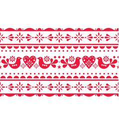 scandinavian love valentines day seamless pattern vector image
