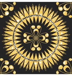 seamless floral gold pattern vector image