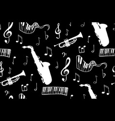 Seamless music background vector