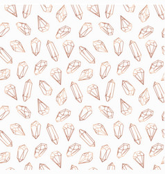 Seamless pattern made of crystals and stones gems vector