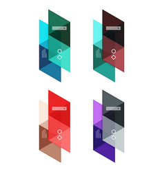 Set of blank geometric infographic web vector
