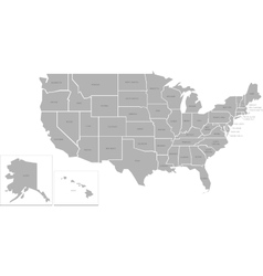 Simlified map of usa vector