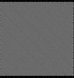 Slanting wavy zigzag lines abstract monochrome vector