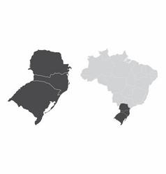 south region brazil vector image
