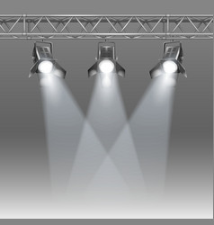 Stage with projectors vector